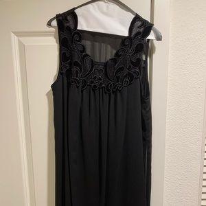 NordstromRack black embroidery chiffon party dress